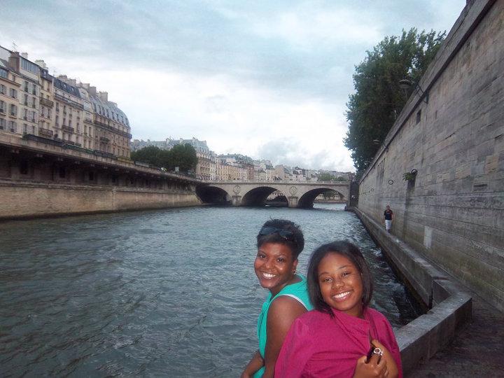 taking a break at the reine river in paris